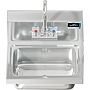 COMAL 30 HANDSINK WITH WALL FAUCET END SPLASH RIGHT