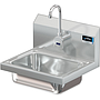 COMAL 14 X 10 X 5 HANDSINK WITH WALL SINGLE FAUCET HOLE