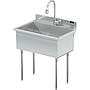 UTILITY SINK 30 X 18 W / PULL DOWN SPRAYER
