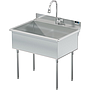 UTILITY SINK 36 X 24 W / PULL DOWN SPRAYER